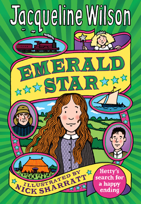 book cover for Jacqueline Wilson's Emerald Star