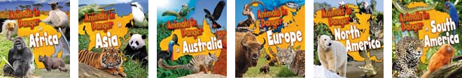 Book covers for Animals in Danger