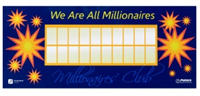 Photo of Accelerated Reader millionaires wall display from Peters Books & Furniture