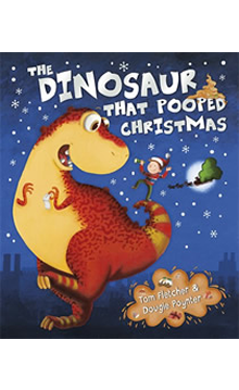 Book cover for The Dinosaur that Pooped Christmas