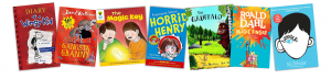 Jeff Kinney, David Walliams, Roderick Hunt, Francesca Simon, Julia Donaldson, Roald Dahl, R. J. Palacio